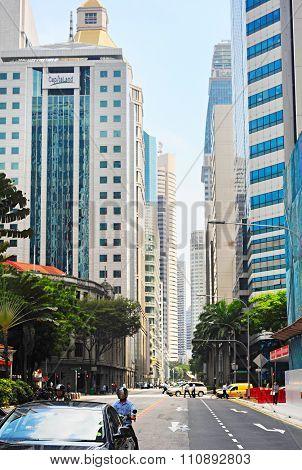Singapore Road Scene