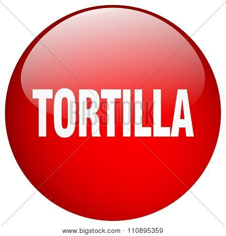 Tortilla Red Round Gel Isolated Push Button