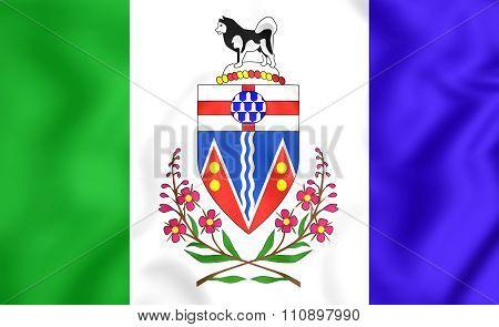Flag Of Yukon, Canada.