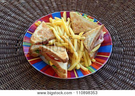 Club Sandwich Fast Food