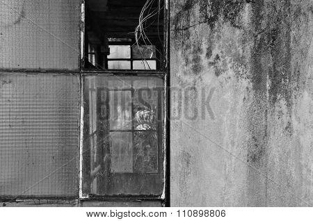 Broken Windows And Moldy Wall