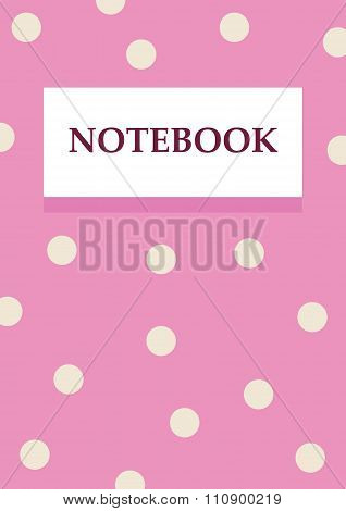 bussiness woman pink notebook design a4 with white circles