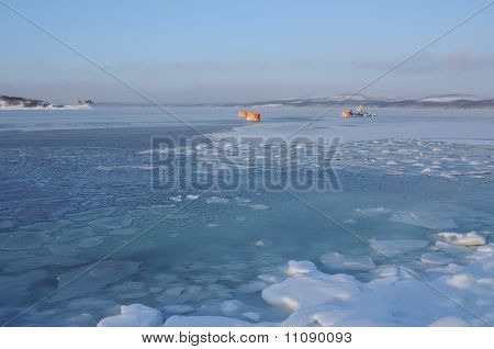 Russian North. Kola Bay.