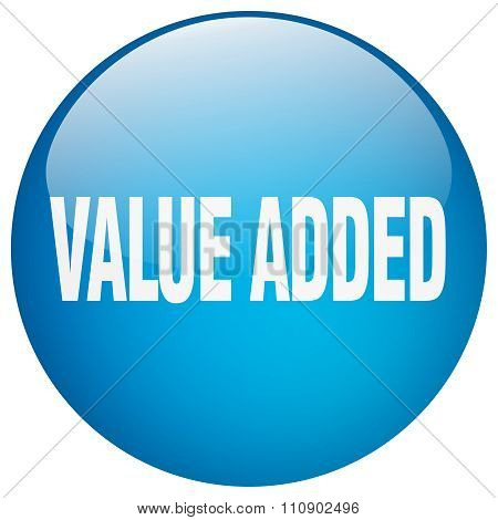 Value Added Blue Round Gel Isolated Push Button