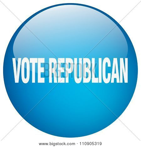 Vote Republican Blue Round Gel Isolated Push Button