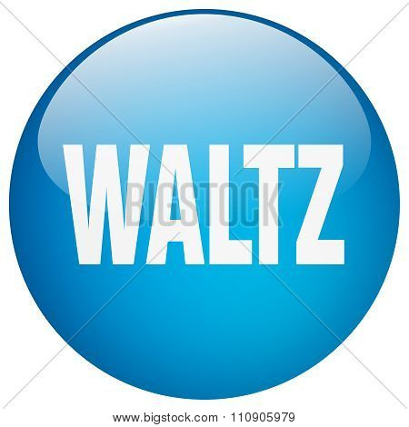 Waltz Blue Round Gel Isolated Push Button