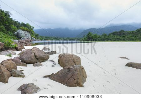 Beach And Lagoon On Ilha Grande