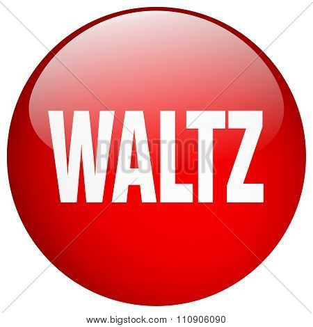 Waltz Red Round Gel Isolated Push Button