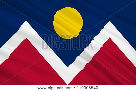 State Flag Of Denver - City And County Of Denver - The Largest City And Capital Of The State Of Colo