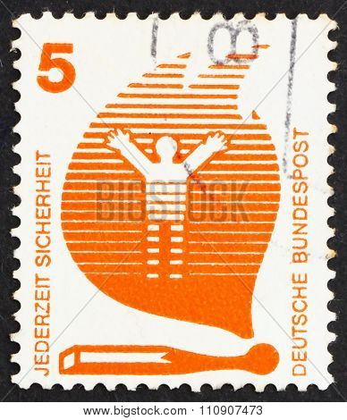 Postage Stamp Germany 1971 Matches Cause Fires, Accident Prevent