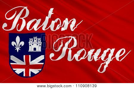 State Flag Of Baton Rouge - A City In The Southeastern United States