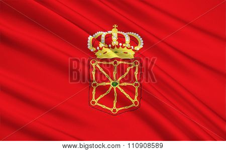 The Flag Of The Navarra, Spain