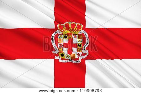 Flag Of Almeria City, Spain