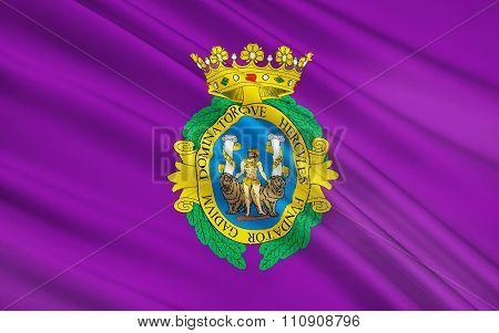 Flag Of Cadiz City Of Spain