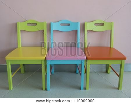 Waiting Room Colorful Chairs For Children