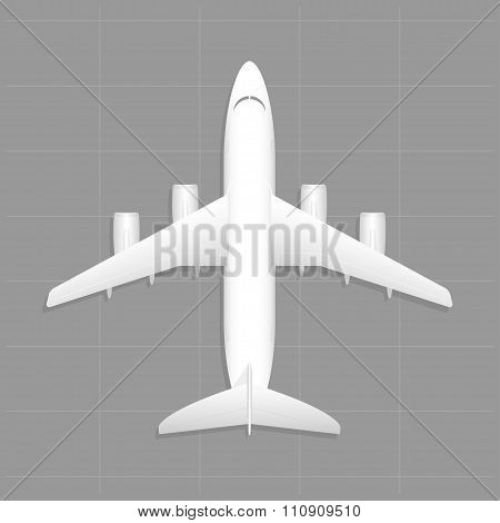 Cargo Aircraft. Top View