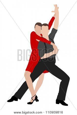 tango dancers illustration 4