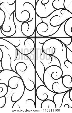 Decorative wrought iron grille