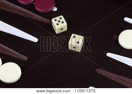 Backgammon Game In Progress
