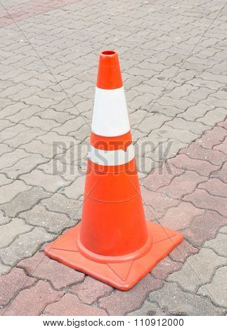 Road Cone On Cement Floor