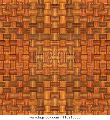 Weaved Dried Dracena Leafs Pattern Background