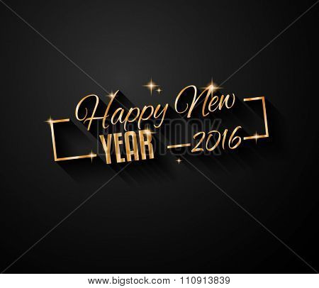 2016 Happy New Year Background for Seasonal Greetings Cards, 2016 Parties Flyer, Dinner Event Invitations and so on.