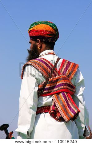 Jaisalmer, India - February 16: Unidentified Man Takes Part In Mr Desert Competition On February 16,