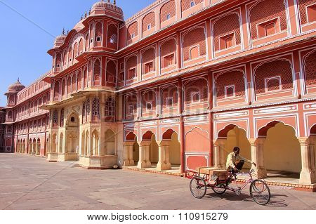 Jaipur, India - February 27: Chandra Mahal In City Palace On February 27, 2011 In Jaipur, India. Pal