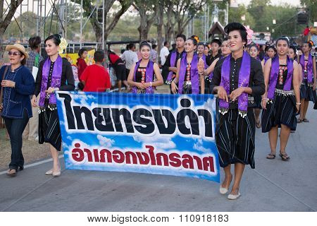 People Parade In Loy Krathong Festival