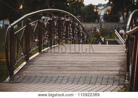 Bridge With Wedding Locks