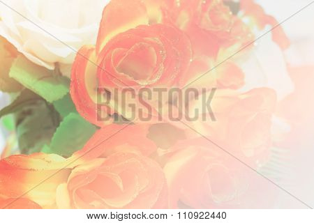 Bouquet Of Fake Red Rose