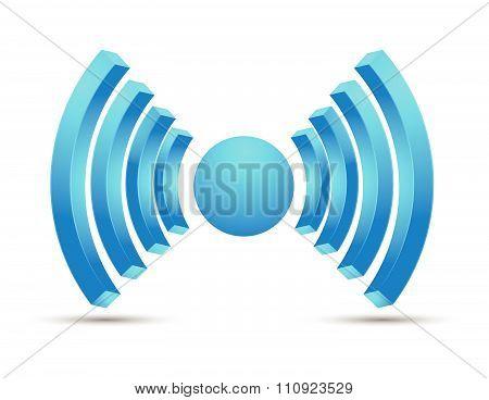 Wifi hotspot icon vector design blue color