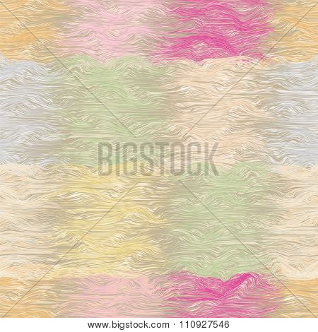 Grunge striped and wavy seamless quilt pattern in pastel colors