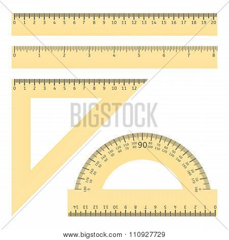 Rulers And Protractor
