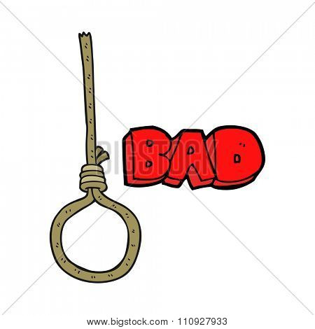 freehand drawn cartoon noose