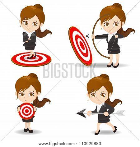 Business Woman Archery Target