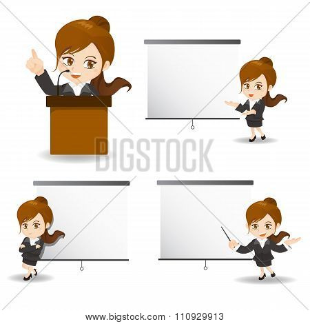 Business Woman Present In Meeting