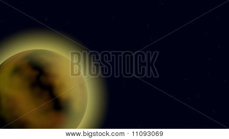 Glowing Planet In Orbit