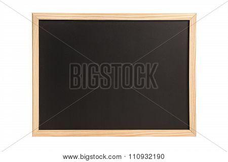 Empty wooden chalkboard