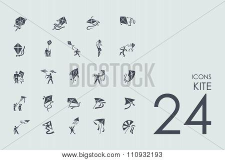 Set of kite icons