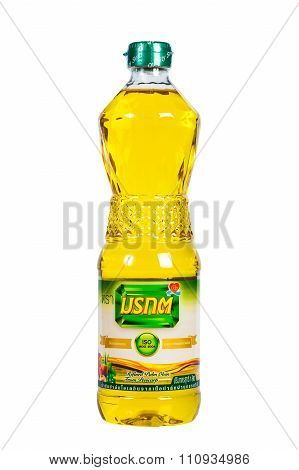 Emerald Oil. Isolated White Background