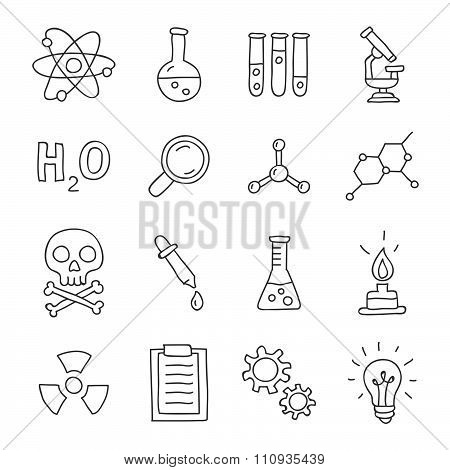 Chemistry. Vector icons
