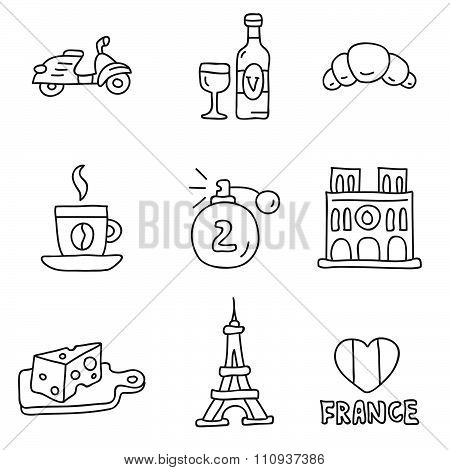 France. Vector icons
