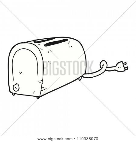 freehand drawn cartoon toaster