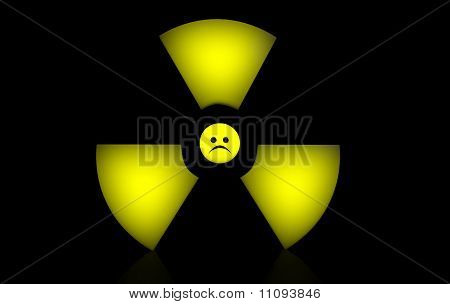Sad Radioactive Sign
