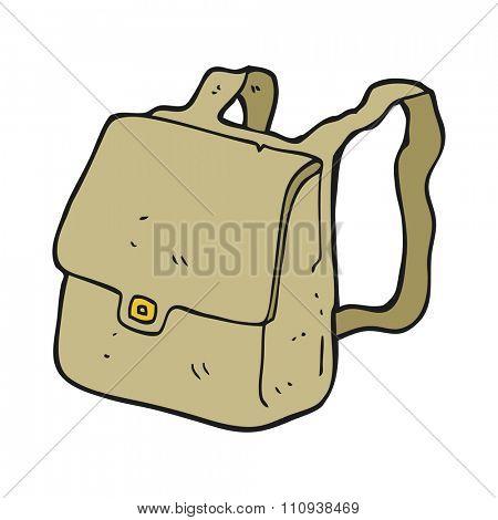 freehand drawn cartoon satchel