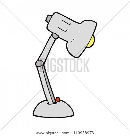 freehand drawn cartoon desk lamp
