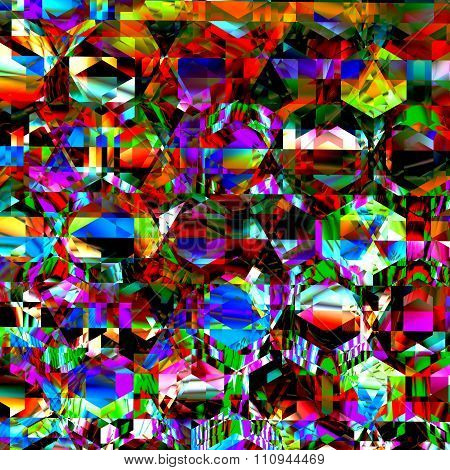 Very bizarre and chaotic clutter. Modern abstract art. Full frame creation. Crazed delirium pic.