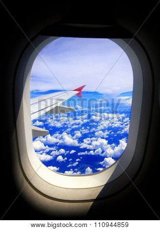 Airplane Window wing View