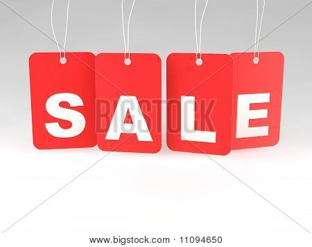 A Set Of Sale Price Tags